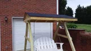 Porch Swing Frame With A Roof.