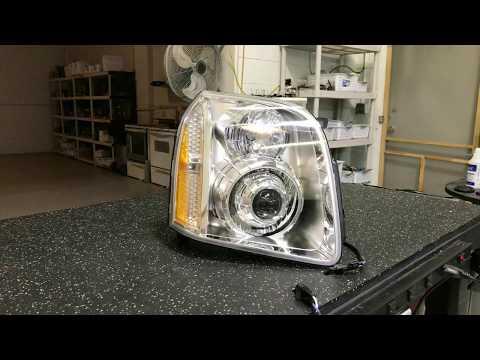 GMC Yukon Denali - Custom Headlight Projector Retrofit - RX350 Bixenon Orbit Shrouds