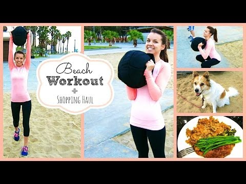 Beach Workout + Shopping Haul! ❄ #DIYDecember Day 18