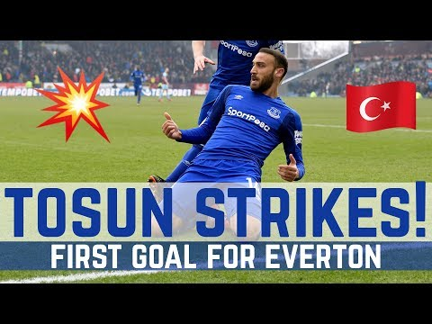 CENK TOSUN'S FIRST GOAL FOR EVERTON!