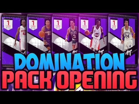 NBA 2K17 MyTEAM EVERY Domination Pack Reward!! Amethyst Rewards & RUBY Q-Rich Duo!