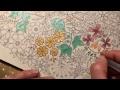 Gelpens in Secret garden coloring book
