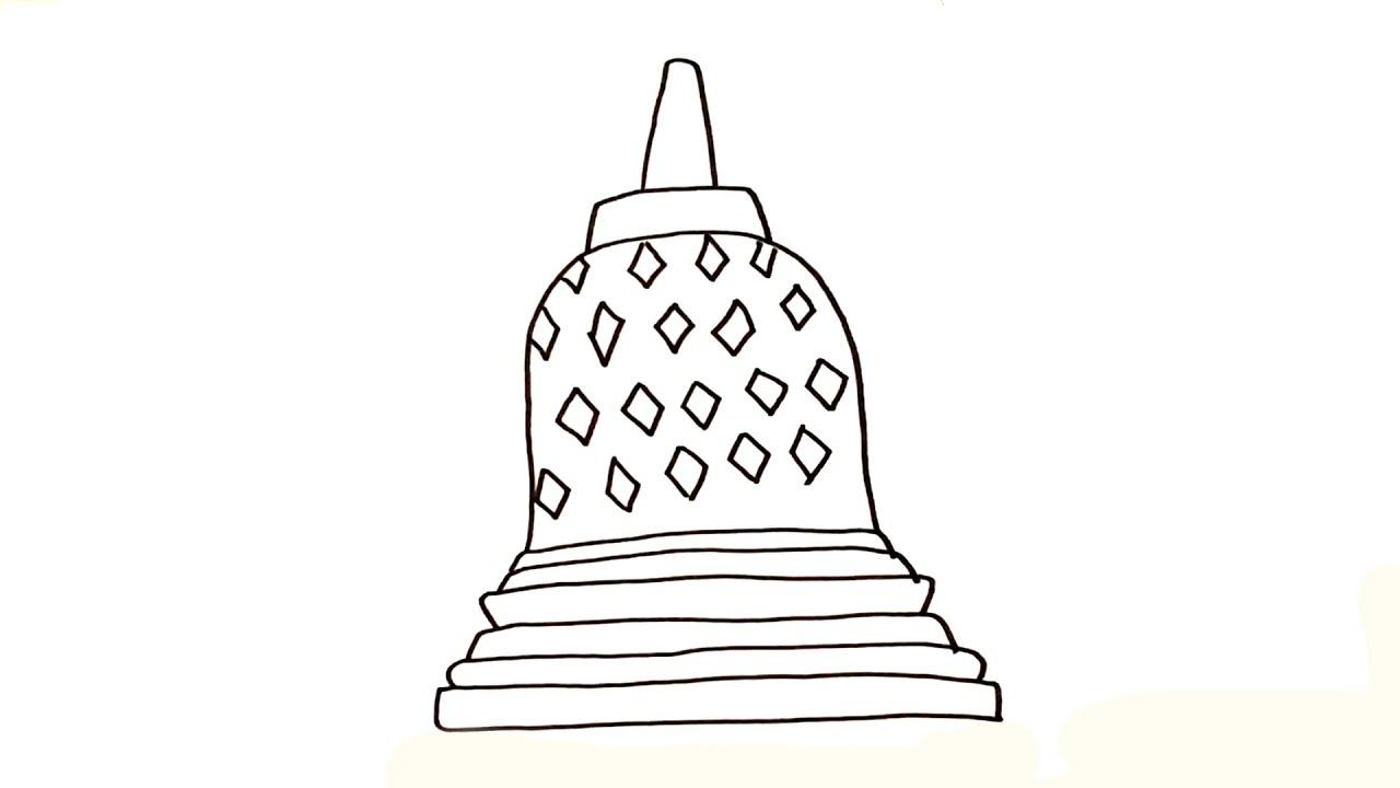 Drawing & Coloring Indonesian Borobudur Temple
