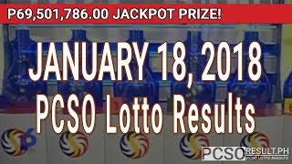 PCSO Lotto Results Today January 18, 2018 (6/49, 6/42, 6D, Swertres, STL & EZ2)