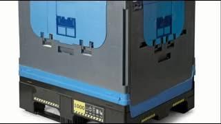 Крупногабаритные складные контейнеры | видеоинструкция по сборке складного контейнера(Видеоинструкция по сборке крупногабаритного складного контейнера. Благодаря тому, что большие пластиков..., 2014-10-16T08:37:47.000Z)