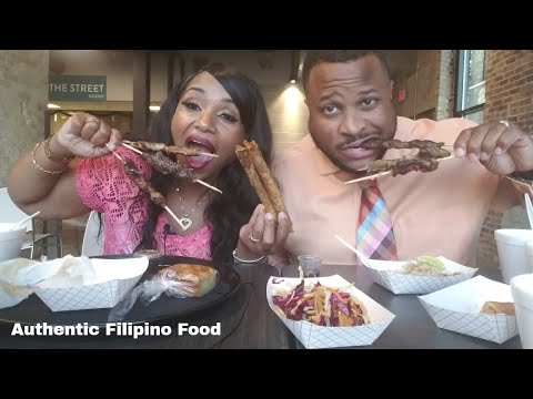 Authentic Filipino food Mukbang, Adobo, Lumpia rolls, Sinigang, Binakol, Shanghai rolls, Bibingka