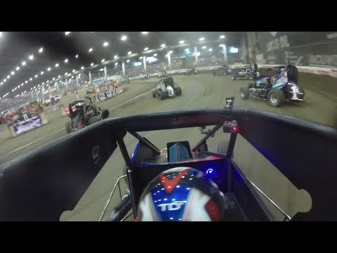 Christopher Bell Lucas Oil Chili Bowl Midget Nationals #VIROC10 Jan. 9th 2018 | ONBOARD