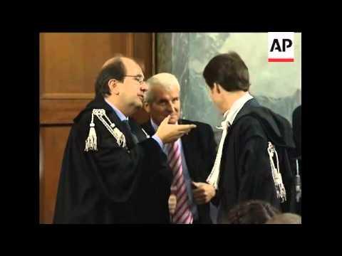Scenes at court where verdict announced in CIA rendition case