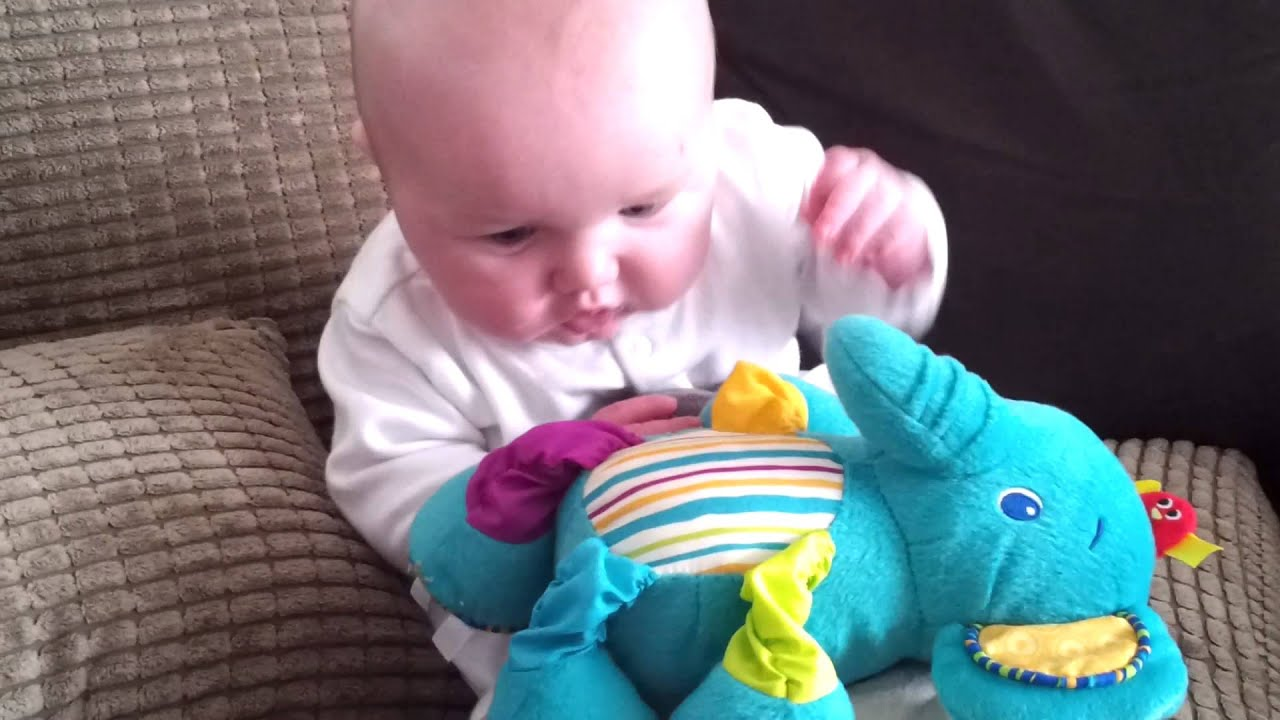 cute babe, 13 week old baby toby playing - youtube