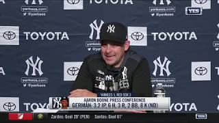 Aaron Boone on the Yankees 5-3 win over the Red Sox