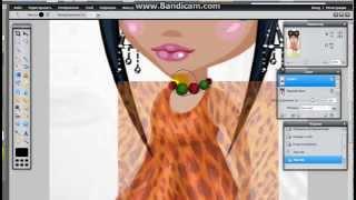 Наносим фон на одежду в онлайн фотошопе (Аватария)