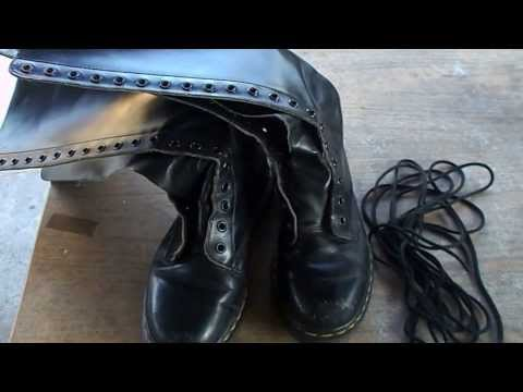How to clean/repair Dr. Martens 20 eye'd boots Part 1
