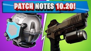ALL PATCH NOTES 10.20 FORTNITE! NEW CITY PANDORA!