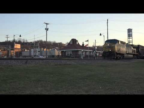 CSX # 126 Southbound @ Homestead PA Waterfront with coke / coal train 2/19/17
