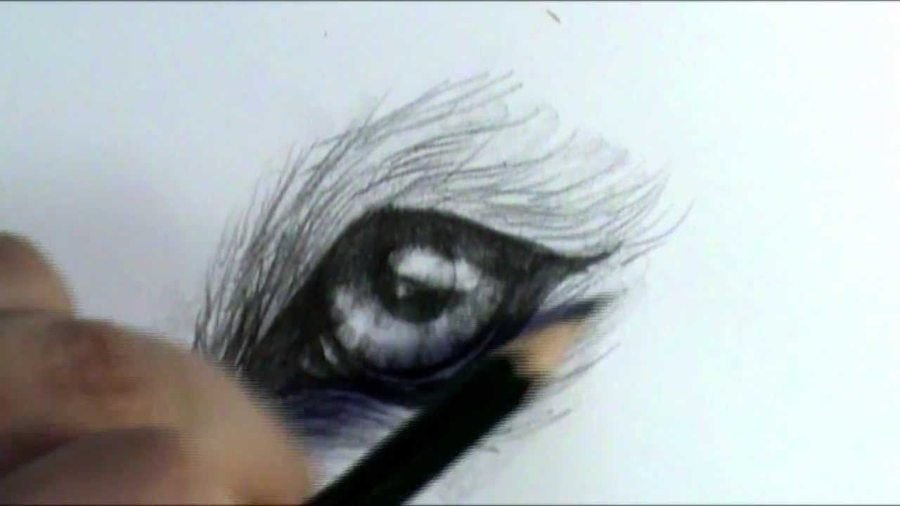 How to draw a wolf eye - YouTube