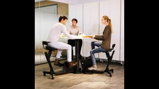 Conference Table with underdesk bike