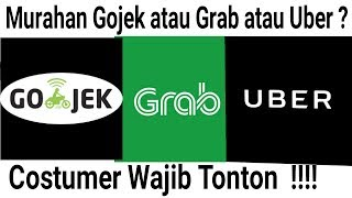 Download Video Perbandingan Harga tarif Ojek online Gojek Grab Uber Terbaru MP3 3GP MP4