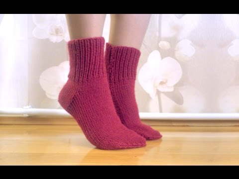Knitting easy socks on two needles (tutorial for BEGINNER) Н
