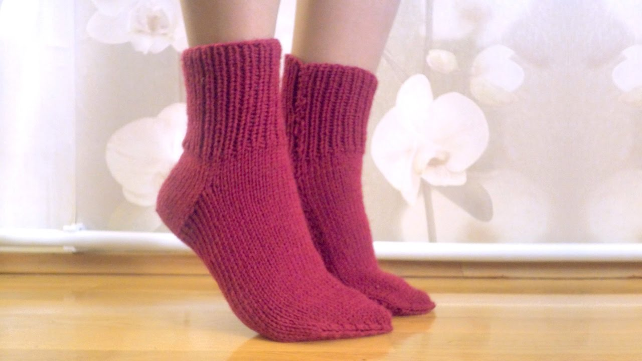 Knitting easy socks on two needles (tutorial for BEGINN ...