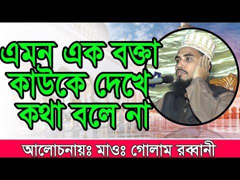 Golam Rabbani Bangla New Waz  এমন এক বক্তা কাউকে দেখে কথা বলে না