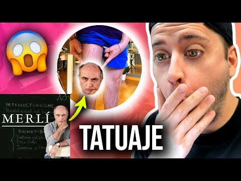 ME TATÚO A 'MERLÍ' (La serie) EN LA PIERNA! | Uy Albert!