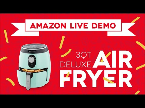 Dash Deluxe 3qt Air Fryer - Amazon Live Sell