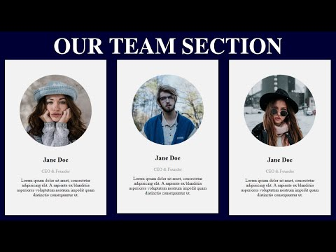 How To Create The Our Team Section By Using Html & Css | Web Design