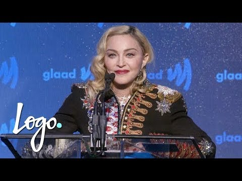 Madonna Accepts Advocate for Change Award (FULL SPEECH) | GLAAD Media Awards | Logo TV