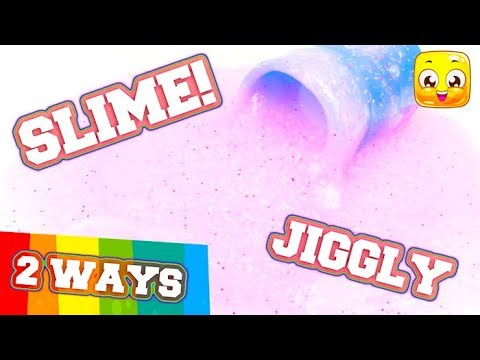 How to make jiggly slime without borax or shaving cream