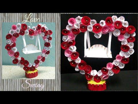 DIY II Beautiful Love Swing made of Paper & Cardboard