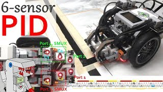 6-Sensor PID Line Follower for EV3?!?! - Mega OP Line Follower!!!