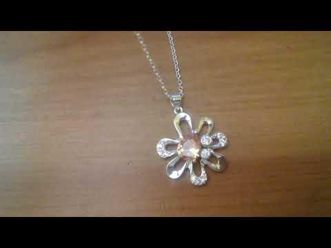Fashion Popular Flower Shape Chain Necklace Jewelry