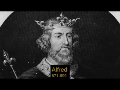 list of the monarchs of Wessex,England,Great britain and The United Kingdom