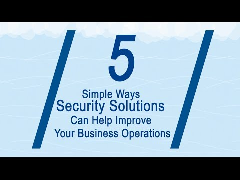 Learn how Security Solutions can Improve your Business Operations