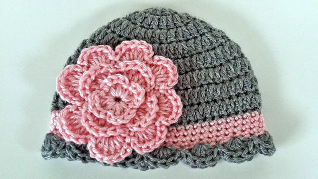 Baby Beanie Crochet Idea 6 12 Months Youtube