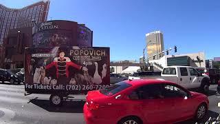 Walking the Strip on Hot August Day Las Vegas People Watching 2017