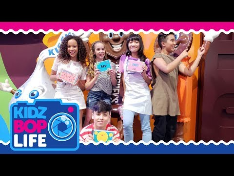 KIDZ BOP Life: Vlog # 32  Ahnya & The KIDZ BOP Kids Take Hersheys Chocolate World