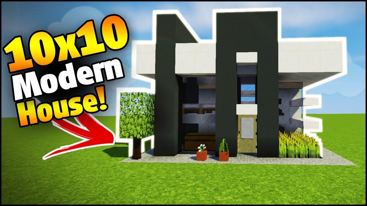 Minecraft Modern Starter House Tutorial How