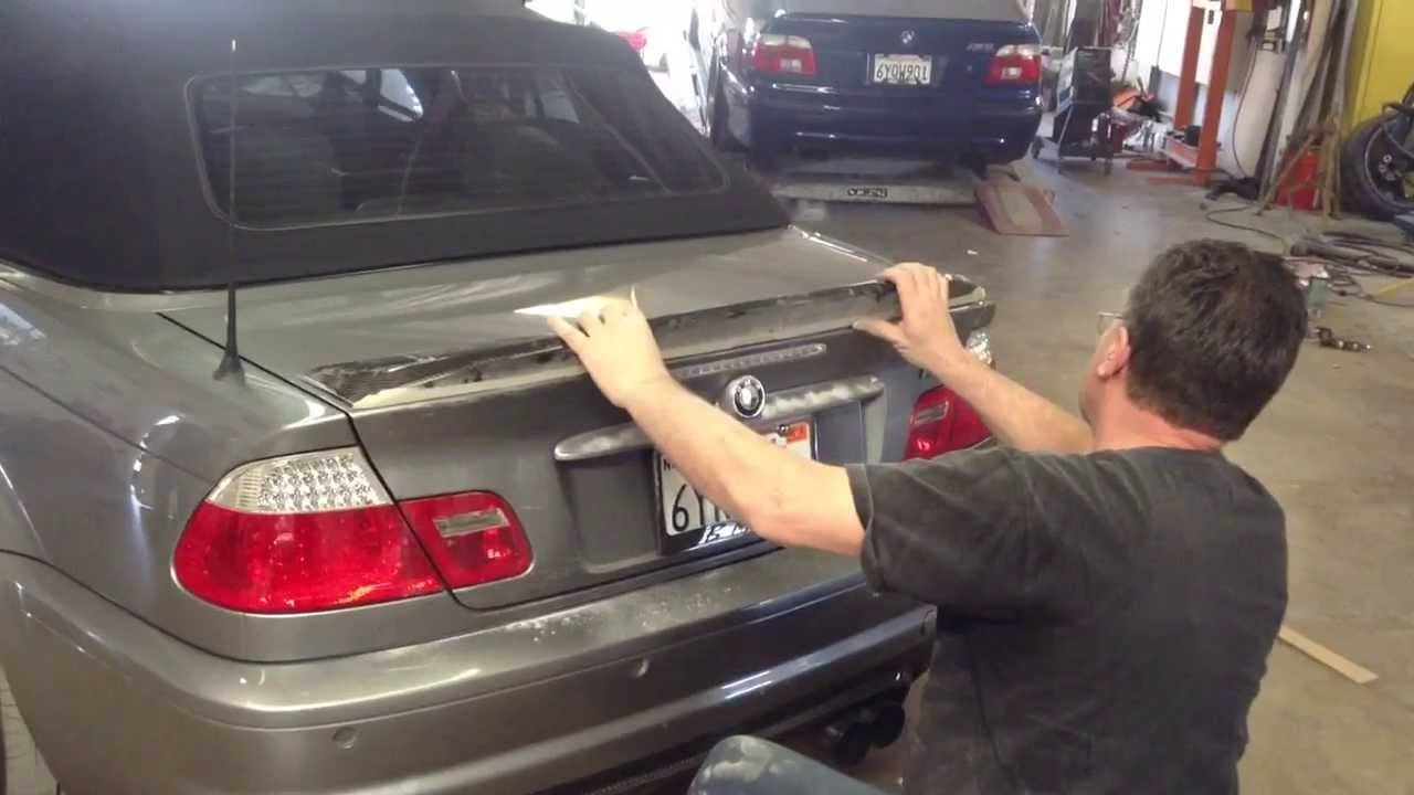 Bmw M3 E46 Convertible Custom Csl Trunk Lid Spoiler Installation By Laguna Niguel Collision Center