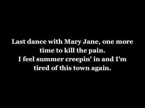 Tom Petty and the Heartbreakers - Mary Jane's Last Dance w/lyrics