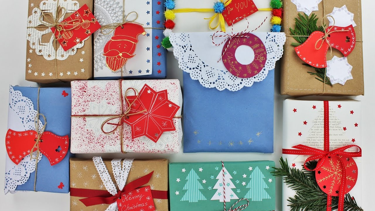 10 Creative Christmas Gift Wrapping Ideas Wrapping Gifts