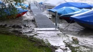 Sturm Joran auf dem Bielersee 2013