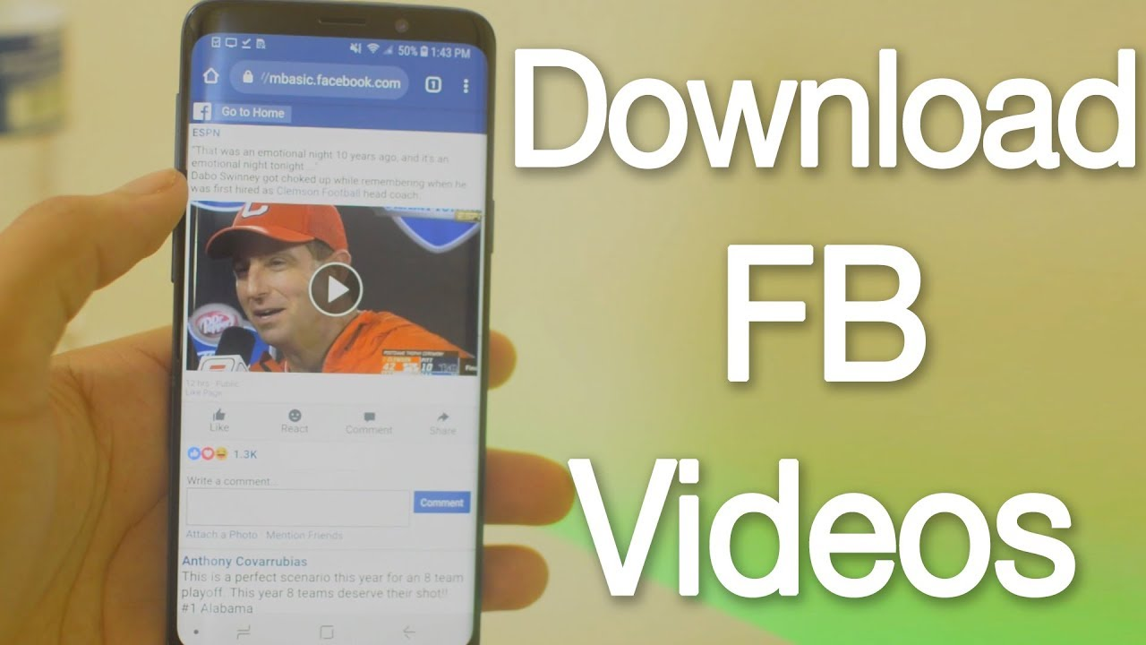 How to Download Facebook Videos on Android Devices Without any App ...