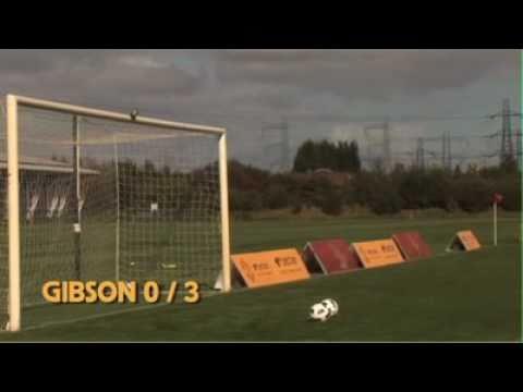 NEW Man United Crossbar Challenge: Fletcher O'Shea Gibson Da Silva twins & Wes Brown
