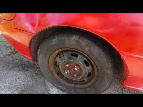 Derby car- changed tires