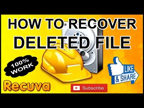 HOW TO RECOVER DELETED FILE ON YOUR PC 100% WORK
