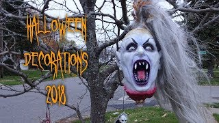 HALLOWEEN Decorations Display Tour & Walkthrough - Monsters, Madmen, Vampires, Zombies, & Clowns