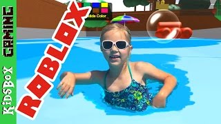 BEST TREEHOUSE! I'm swimming in the pool! [Roblox]