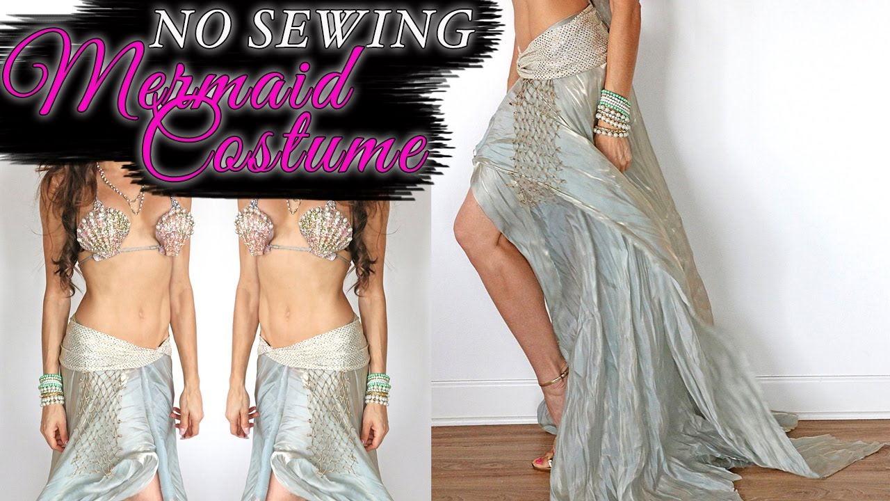 SEXY MERMAID COSTUME - NO SEWING & SEXY MERMAID COSTUME - NO SEWING - YouTube