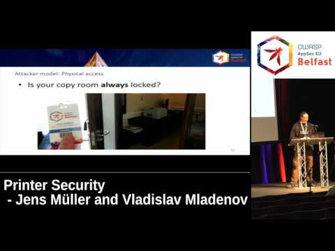 AppSec EU 2017 Printer Security by Jens Müller and Vladislav Mladenov
